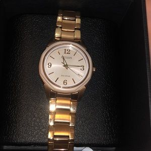 Citizen rose gold eco drive watch